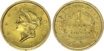 USA 1 Dollar  Liberty - 1853 - Or