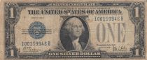 USA 1 Dollar 1928 - Washington, tampon bleu, silver certificate - TB