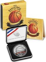USA 1 Dollar Basketball Hall of Fame - P Philadelphia - Proof 2020 Silver colorized