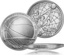 USA 1 Dollar Basketball Hall of Fame - P Philadelphia - Uncirculated 2020 Silver