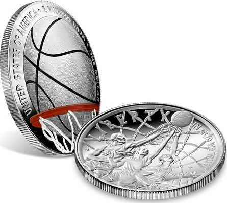 USA 1 Dollar Basketball Hall of Fame - P Philadelphie - Proof 2020 Argent colorisée
