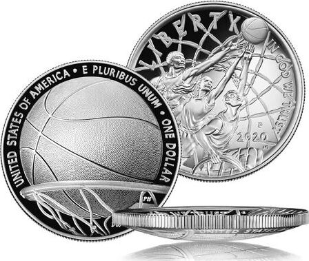 USA 1 Dollar Basketball Hall of Fame - P Philadelphie - Proof 2020 Argent