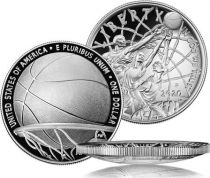 USA 1 Dollar Basketball Hall of Fame - P Philadelphie - Proof 2020 Argent