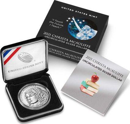 USA 1 Dollar Christa McAuliffe - P Philadelphia - Uncirculated 2020 Silver
