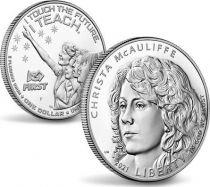 USA 1 Dollar Christa McAuliffe - P Philadelphie - Proof 2020 Argent