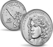 USA 1 Dollar Christa McAuliffe - P Philadelphie - Uncirculated 2020 Argent