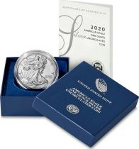 USA 1 Dollar Liberty American Eagle - 2020 - Uncirculated - Argent