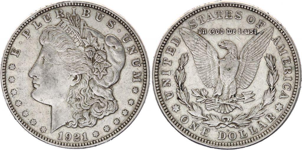 USA 1 Dollar Morgan - 1921 - Aigle D Denver