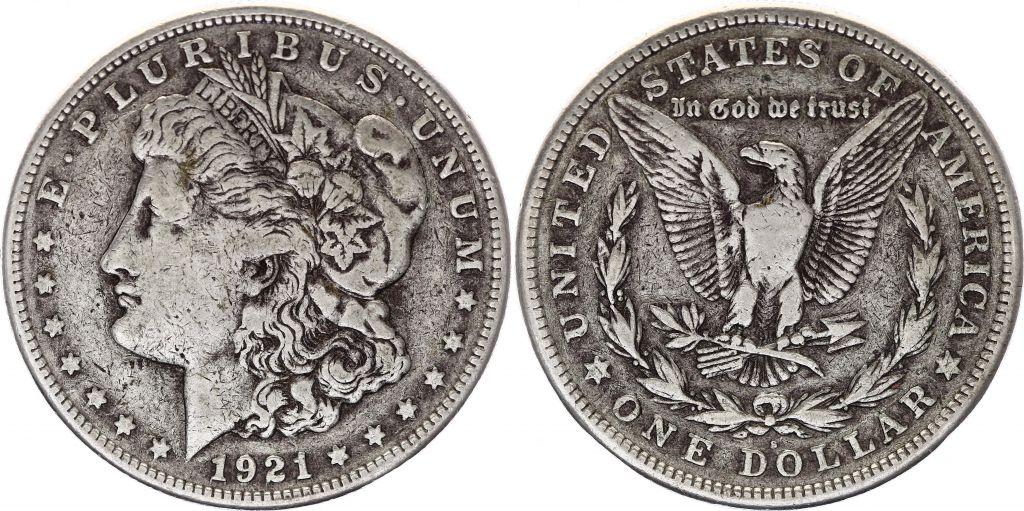 USA 1 Dollar Morgan - 1921 - Aigle S San Francisco