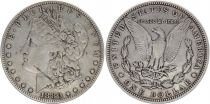 USA 1 Dollar Morgan - Aigle 1880 - Argent sans atelier - TB