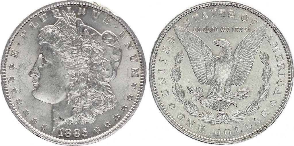 USA 1 Dollar Morgan - Aigle 1885 Argent