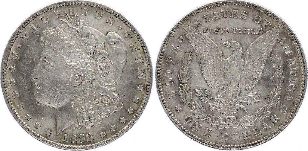 USA 1 Dollar Morgan - Eagle 1878 Silver - VF