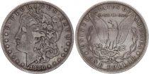 USA 1 Dollar Morgan - Eagle 1880- Silver - Fine - 2nd ex