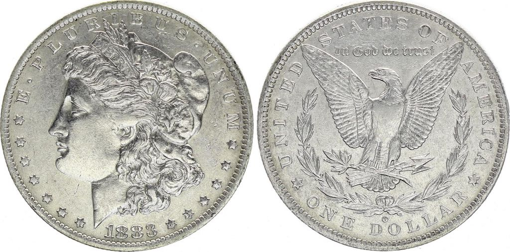 USA 1 Dollar Morgan - Eagle 1883 O Nouvelle-Orleans - Silver
