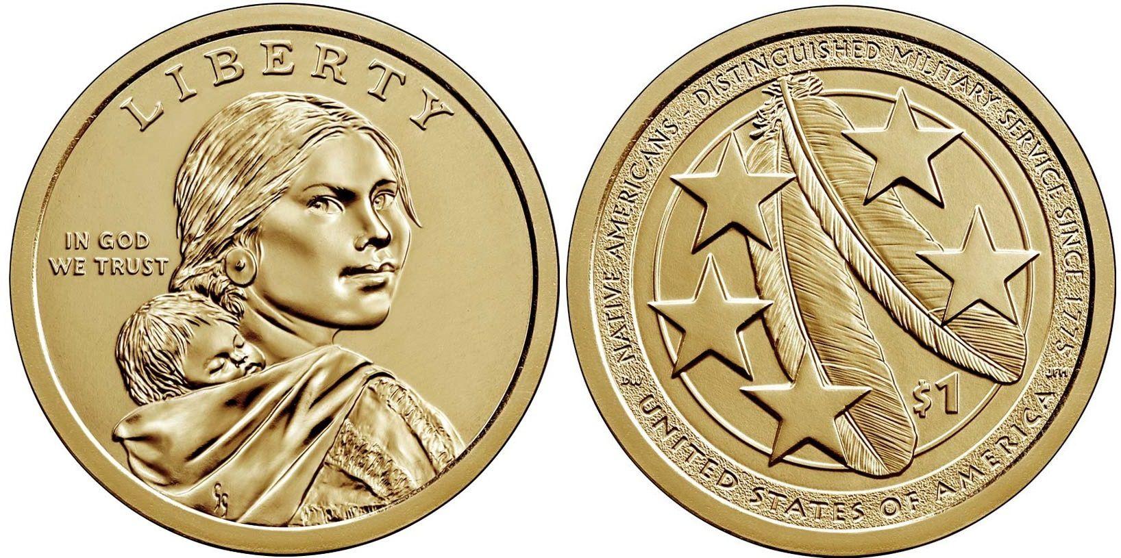 USA 1 Dollar Native American - US Army 2021 D Denver