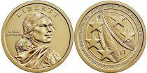 USA 1 Dollar Native American - US Army 2021 P Philadelphia