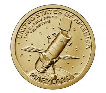 USA 1 Dollar Télescope Hubble Maryland Innovation 2020 P Philadelphie - SPL