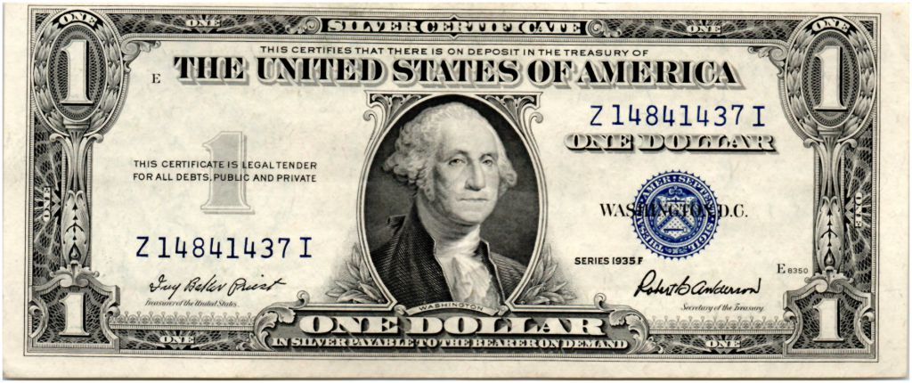 USA 1 Dollar Washington - Silver Certificate années 1935 - TTB