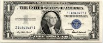 USA 1 Dollar Washington - Silver certificate from 1935 - VF / VF+