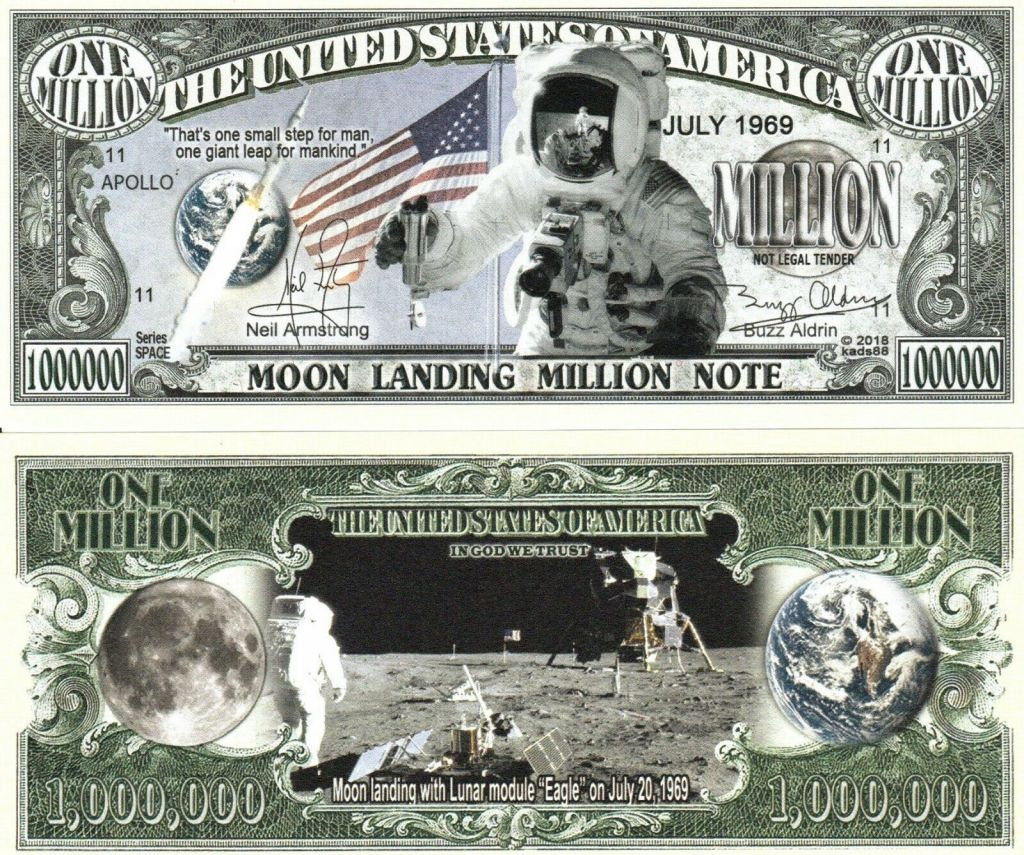 USA 1 Million - Moon Landing 2019 - Fantaisy note
