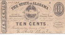 USA 10 Cents - The State of Alabama - 1863 - VF