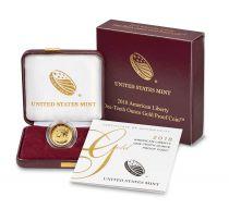 USA 10 Dollars, Liberty - 2018 - Gold - 1/10 Oz