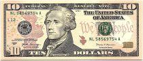 USA 10 Dollars Hamilton - 2017 - L12 San Francisco  - UNC - P.545