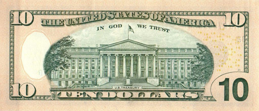 USA 10 Dollars Hamilton - Batiment du Trésor 2017 B2 New York
