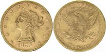 USA 10 Dollars Liberty - Aigle Coronet Head - 1893 Or