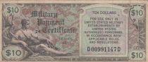 USA 10 Dollars Military Cerificate - Série 481 - 1951 - F