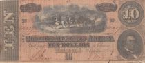 USA 10 DollarsM.T. Hunter - Confederate States - 1864 - Fine - P.68