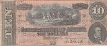 USA 10 DollarsM.T. Hunter - Confederate States - 1864 - Fine to VF - P.68