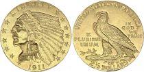 USA 2 1/2 Dollars, Tête Indien - Aigle 1911