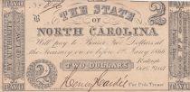 USA 2 Dollars - State of North Carolina - 1861 - Fine