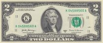 USA 2 Dollars Jefferson - Independance 1776 - 2017 K11 Dallas - UNC - P.538