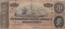 USA 20 Dollars A. H. Stephens - Confederate States - 1864 -  VF - P.69