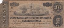 USA 20 Dollars A. H. Stephens - Confederate States - 1864 - Fine - P.69