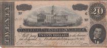 USA 20 Dollars A. H. Stephens - Confédérate States - 1864 - TTB - P.69