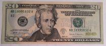USA 20 Dollars Jackson - Maison Blanche B2 New York - 2017 - Neuf