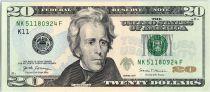 USA 20 Dollars Jackson - White House K 11 Dallas  - UNC - P.546