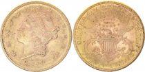 USA 20 Dollars Liberty - Eagle Coronet Head - 1884 S San Francisco Gold
