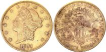 USA 20 Dollars Liberty - Eagle Coronet Head - 1891 S San Francisco Gold