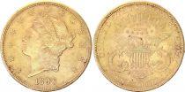 USA 20 Dollars Liberty - Eagle Coronet Head - 1896 S San Francisco Gold