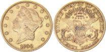 USA 20 Dollars Liberty - Eagle Coronet Head - 1898 San Francisco  Gold