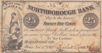 USA 25 Cents - Northborough Bank - 1862 - Fine