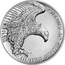 USA 2.50 Once American Liberty 2019 - Aigle - Argent- High Relief
