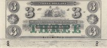 USA 3 Dollars The New England Commercial Bank - 18xx - UNC