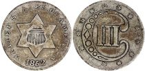 USA 3 Silver Cents  - 1852
