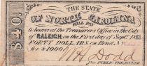 USA 40 Dollars - State of North Caolina - Raleigh - 1863 - SUP