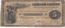 USA 5 Cents - Lehigh County - 1862 - Fine